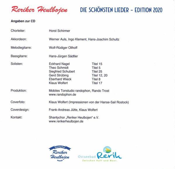Reriker Heulbojen - Die schönsten Lieder - Edition 2020